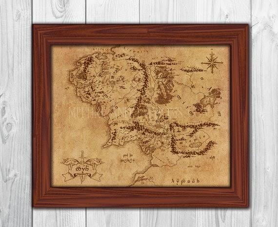 Elvish Map Of Middle Earth Image Source Mithrilandmathoms
