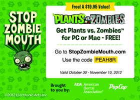 Stop Zombie Mouth Coupon