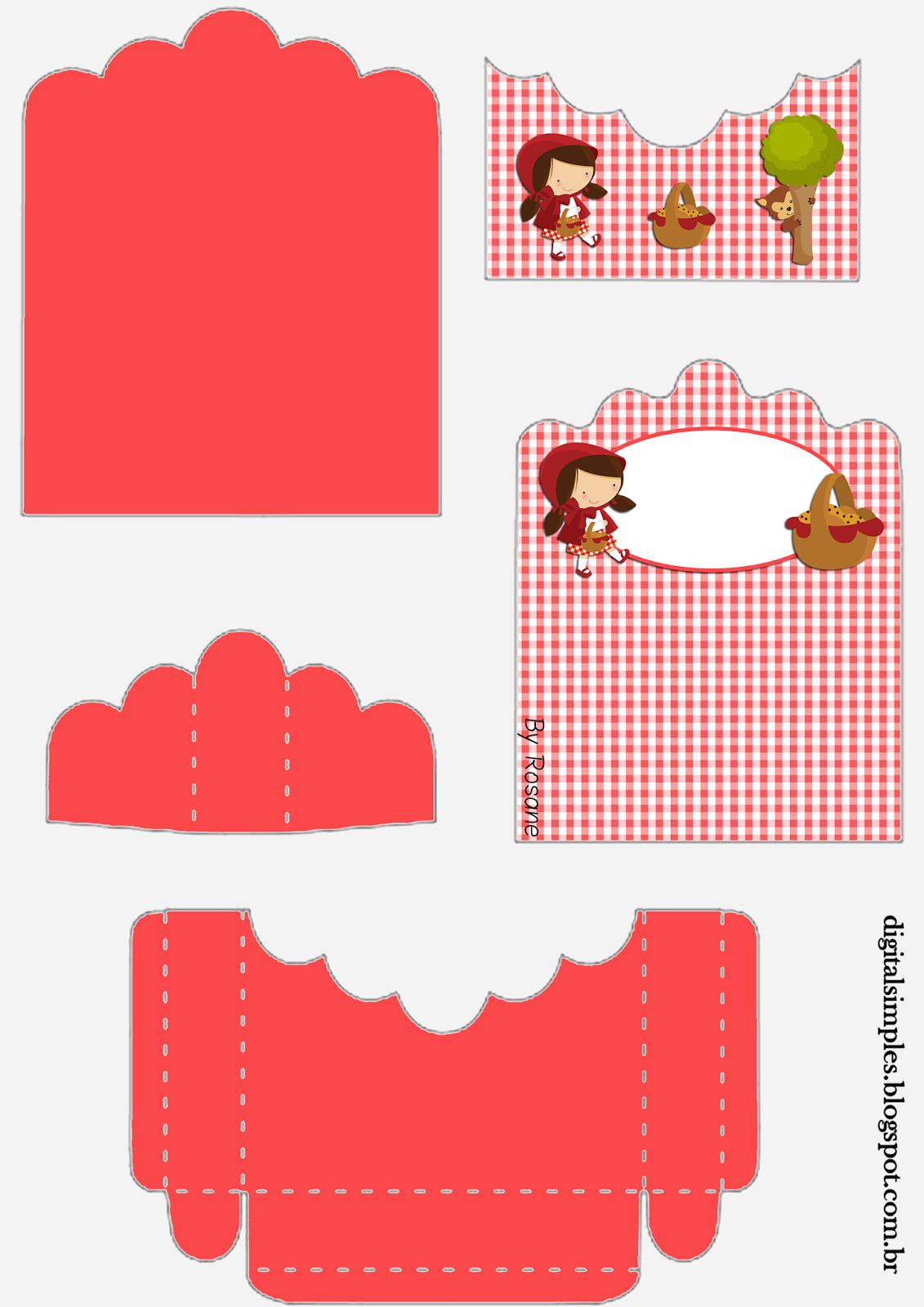 Caperucita Roja por el Bosque: Soporte para Golosinas para Imprimir Gratis.
