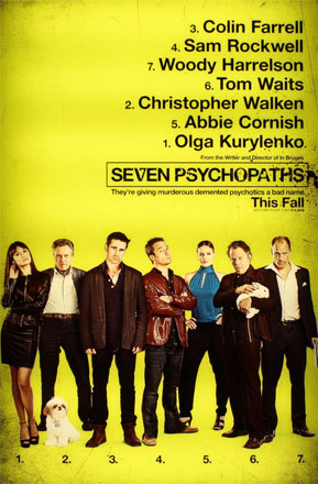 Seven Psychopaths Poster Jameson Cult Film Club