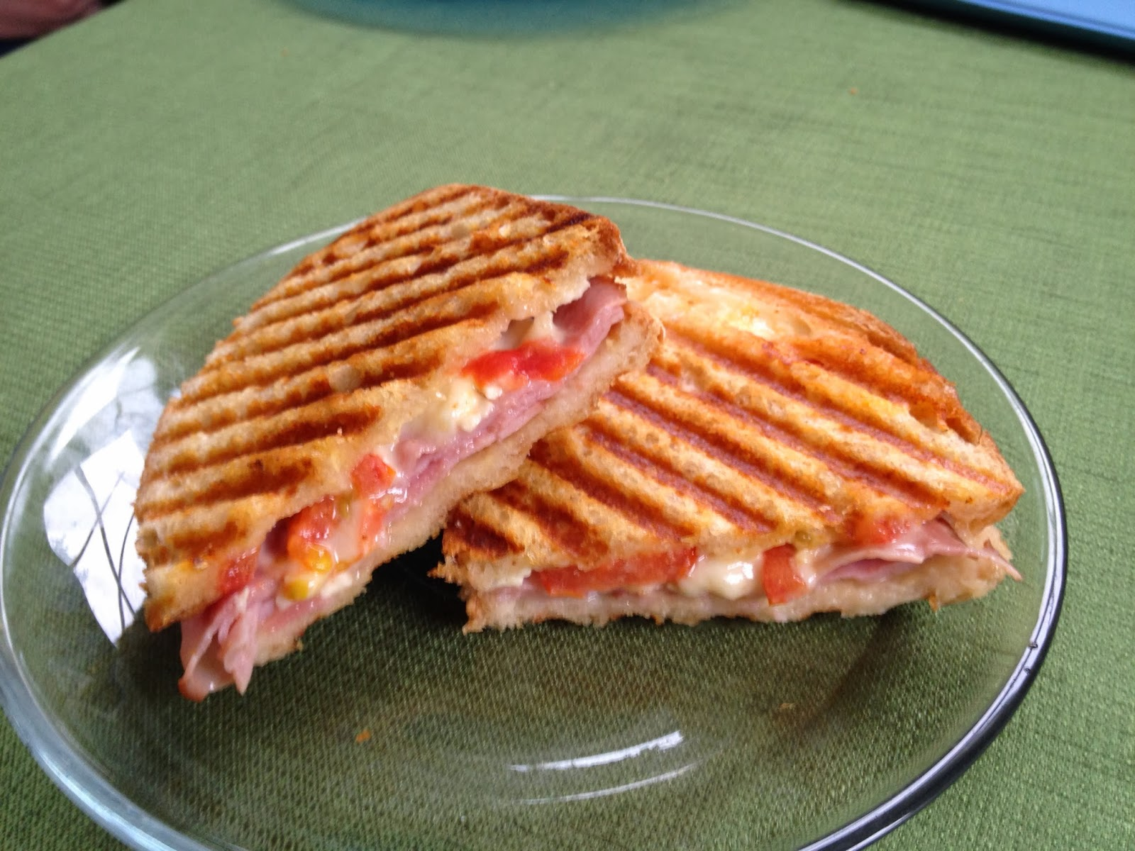Planet of the Crepes: Ham and brie panini