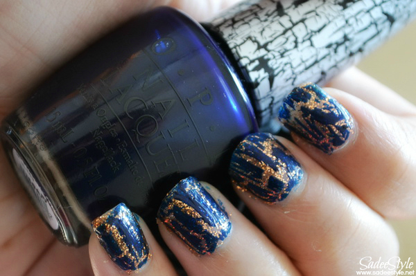 Navy Shatter Nail Lacquer by OPI ~ SadeeStyle Beauty & Fashion Blog