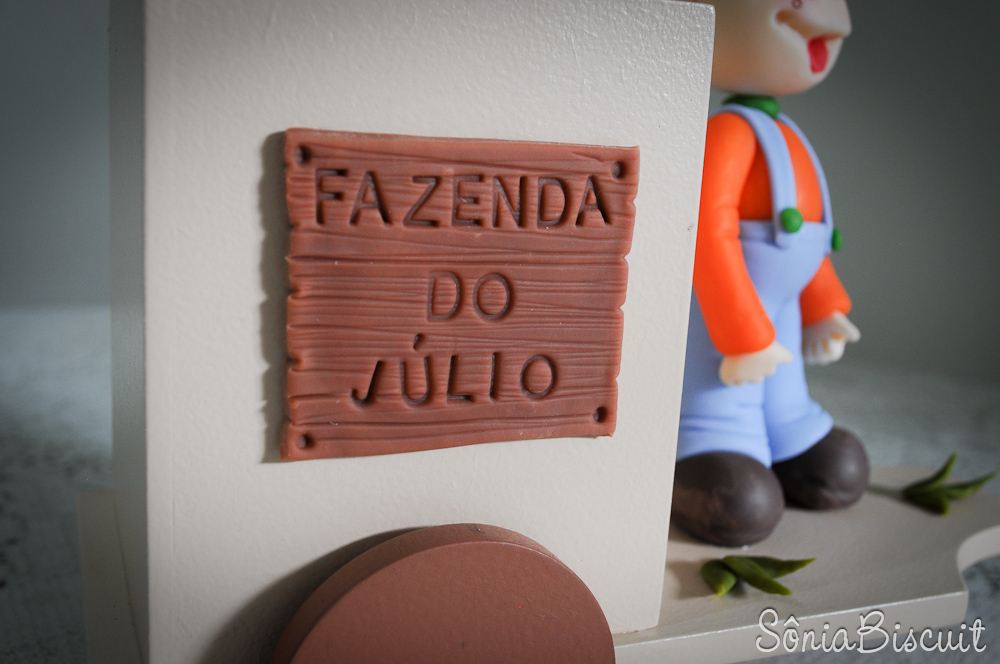 Júlio Carroça Biscuit Lembrancinha Cocoricó Aniversário