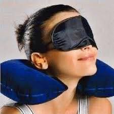 Harga inflatable travel pillow Murah Bantal Tiup Dan Penutup Mata Untuk Tidur Nyenyak