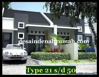 Desain denah sederhana rumah type 36 dengan luas tanah 90 m2