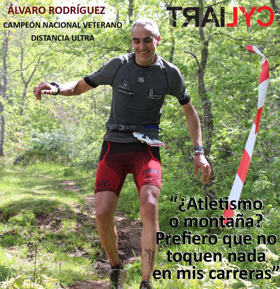 Álvaro Rodríguez, de la selección de Castilla y León de carreras por montaña. /TRAILCYL