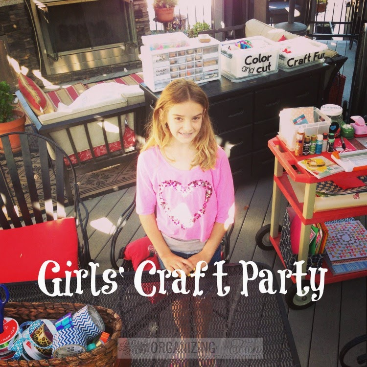 Girls' Craft party: Teaching kids to be Hospitable :: OrganizingMadeFun.com