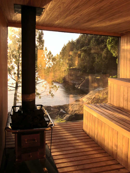 Best swimming pools spas designs sauna design chile for Sauna designs