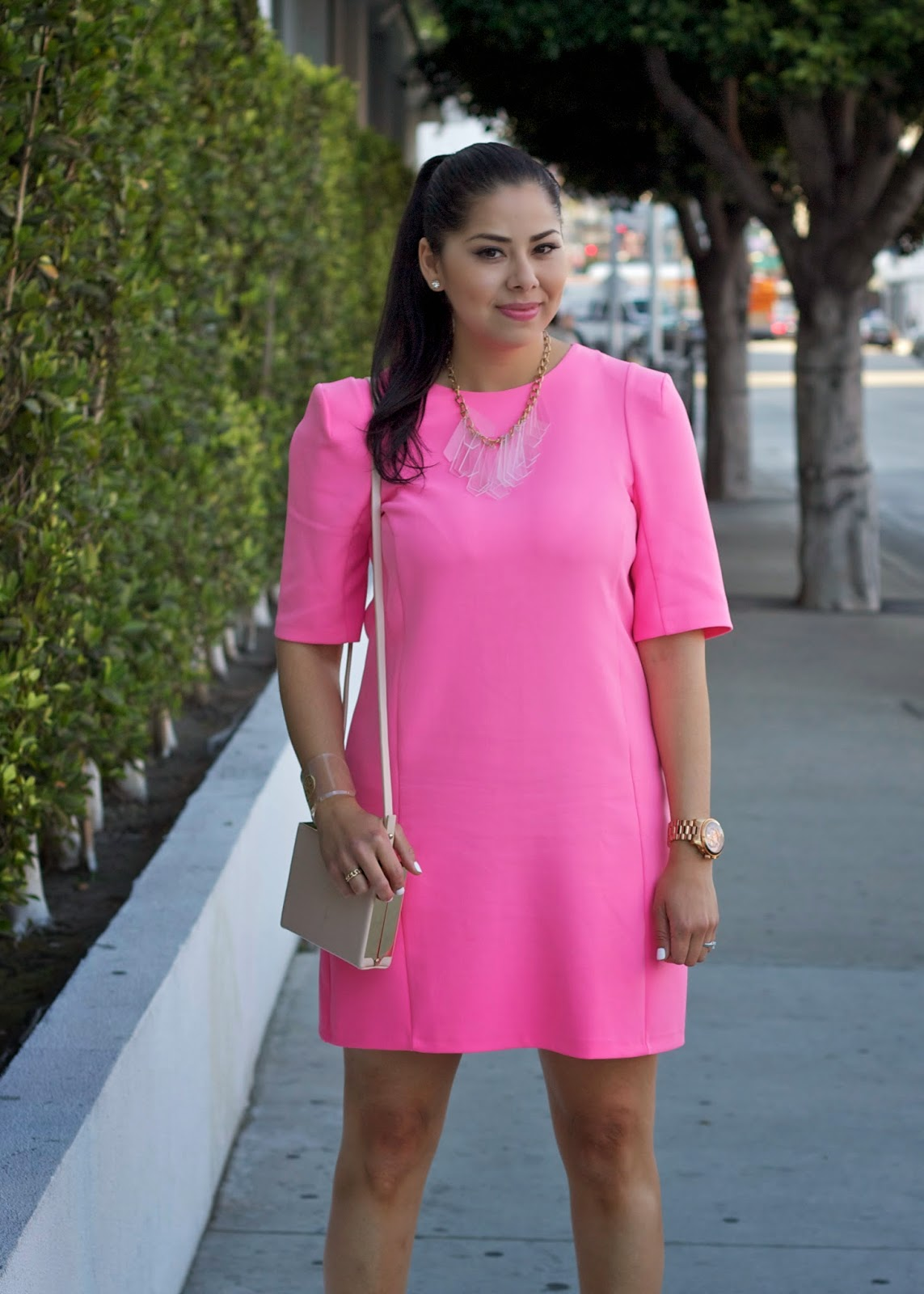 What To Wear With Hot Pink Dress