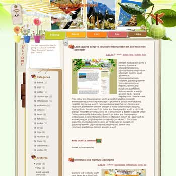 Fullest New Zealand Blogger Template. free download template blogspot