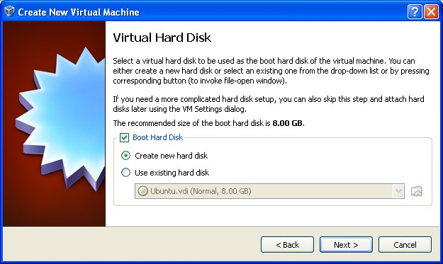 VirtualBox Hardisk