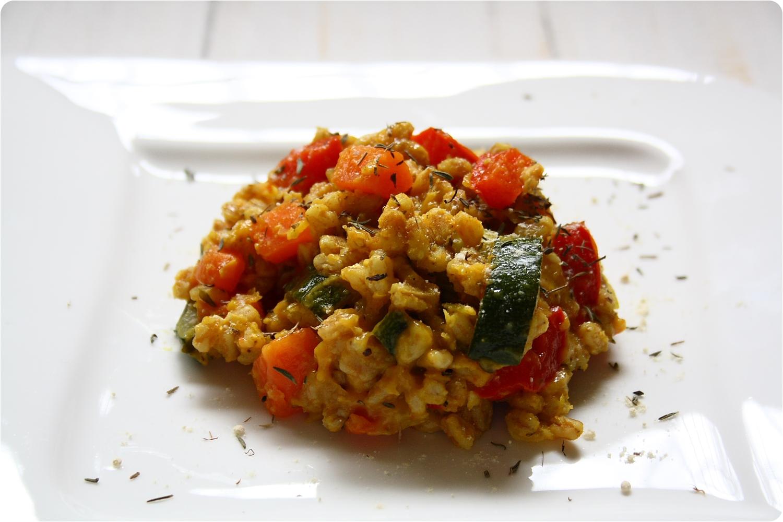 gem se dinkel risotto mit roten linsen the vegetarian diaries. Black Bedroom Furniture Sets. Home Design Ideas