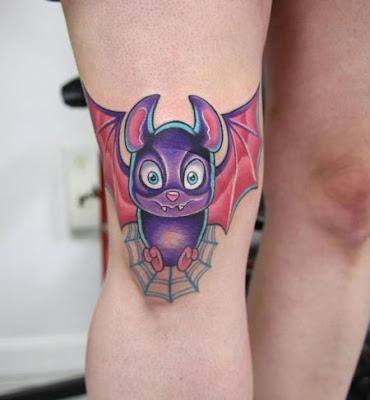 Cartoon Bat Tattoo