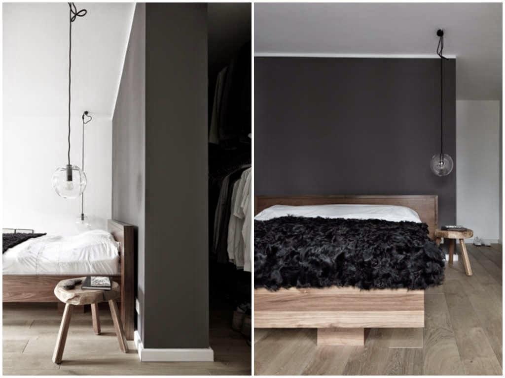 masculino, colores neutros, blanco, negro, madera, dormitorio, dekoloop