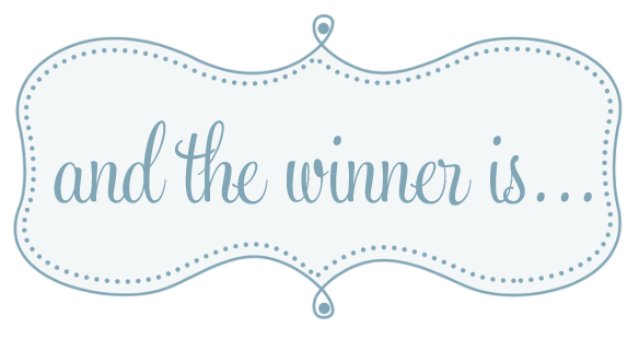 ... the winner of the green giveaway that i