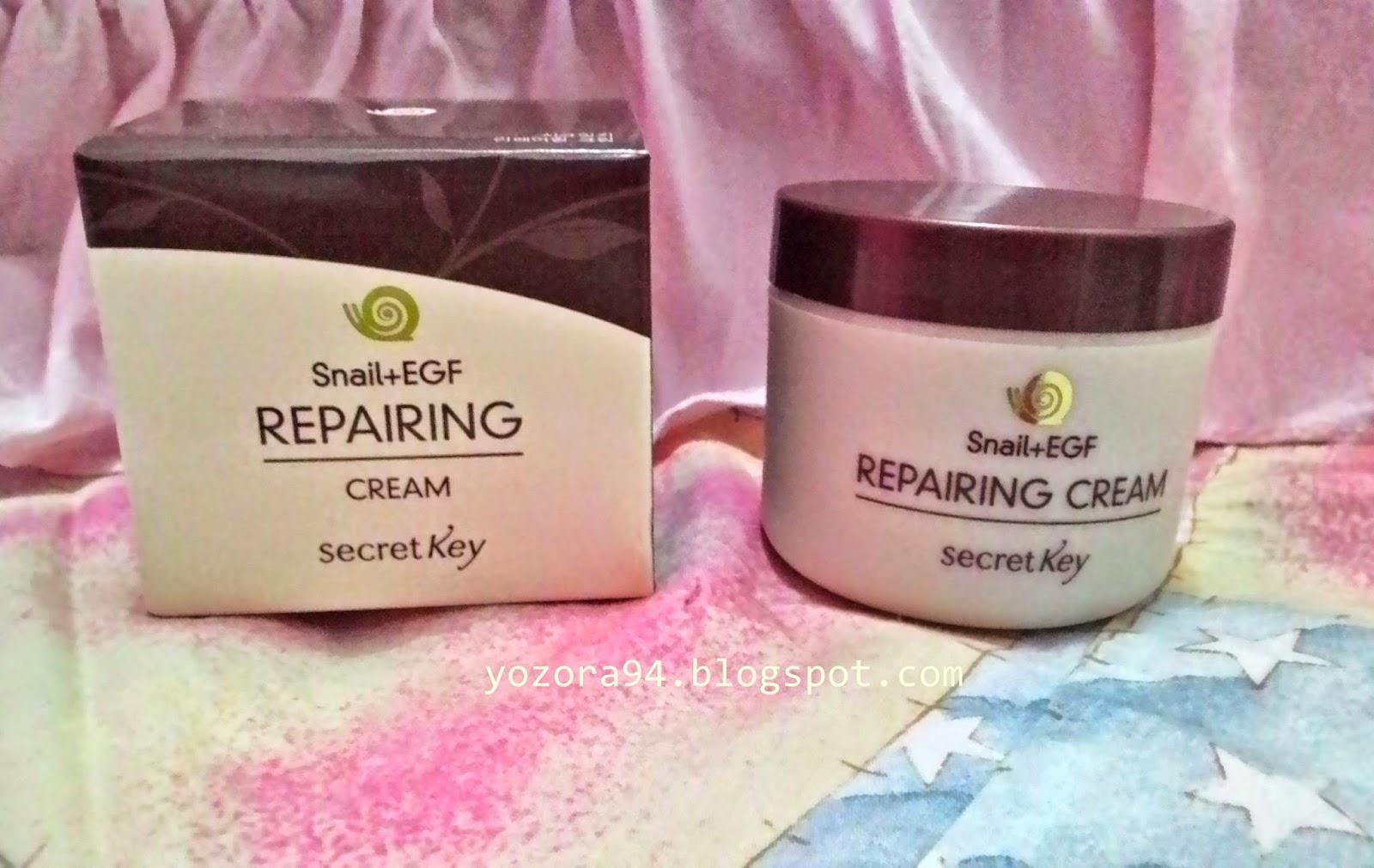 Review Secret Key Snail Egf Repairing Cream Ells Beauty Diary Treatment 50gr