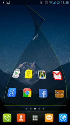 If you adopt GO Launcher EX as your default homescreen, you will