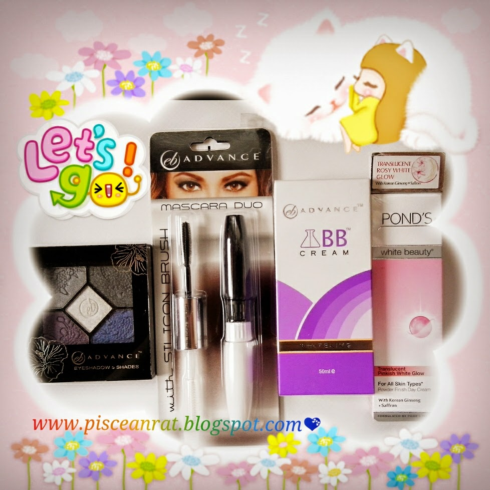 pisceanrat Ever Bilena Advance Eyeshadow  Ever Bilena Mascara Duo Ever Bilena Whitening BB Cream Pond's White Beauty Pinkish White