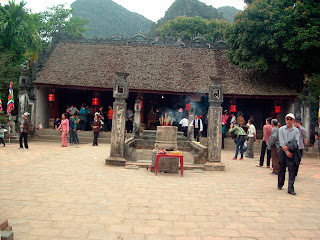 Patio Temple in Dinh Hoa Lu