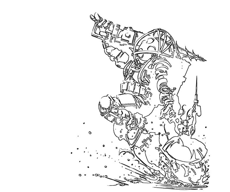 bioshock coloring pages BioShock Drawings  Bioshock Coloring Pages