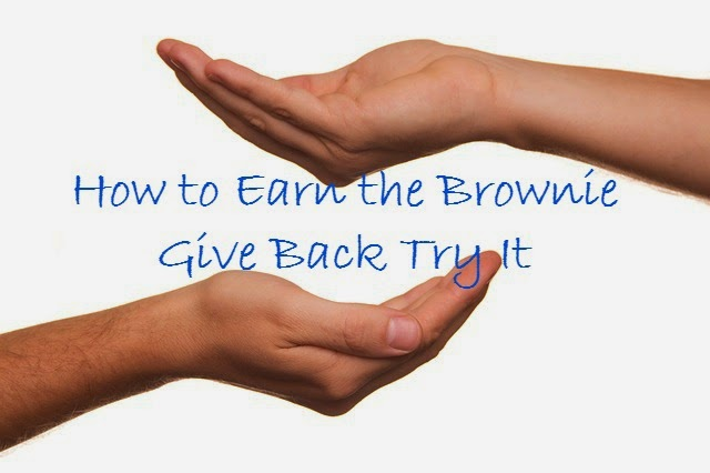 how to earn the Brownie Give Back Try It
