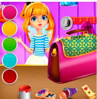 My facebook game list teen girl bag decor for Bag decoration games