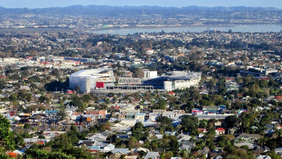 La stade Eden Park vu du Mont Eden Domain