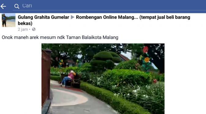 Foto abg mesum di alun-alun Malang
