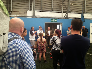 Ian Holloway' draws the raffle