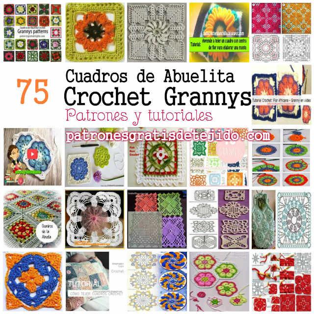 75 patrones y tutoriales de cuadros de abuelita