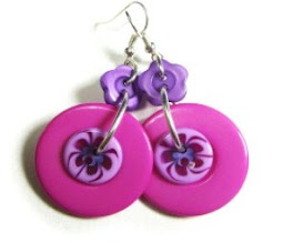Big Button Fashion Earrings