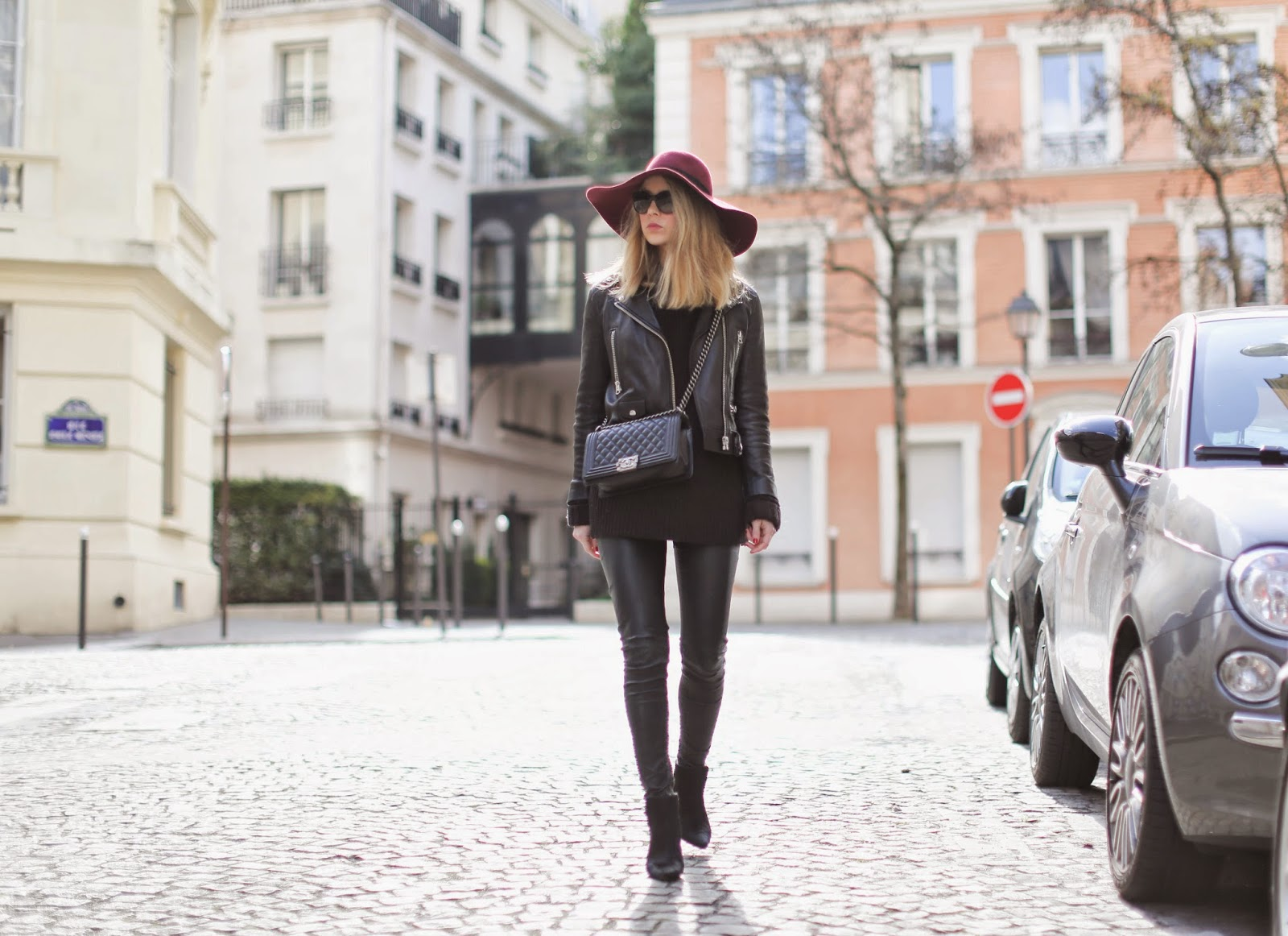 leather, maison muchel, zara, acne, blk dnm, streetstyle, paris
