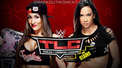 WWE TLC 2014 PPV Divas Championship Nikki Bella vs AJ Lee