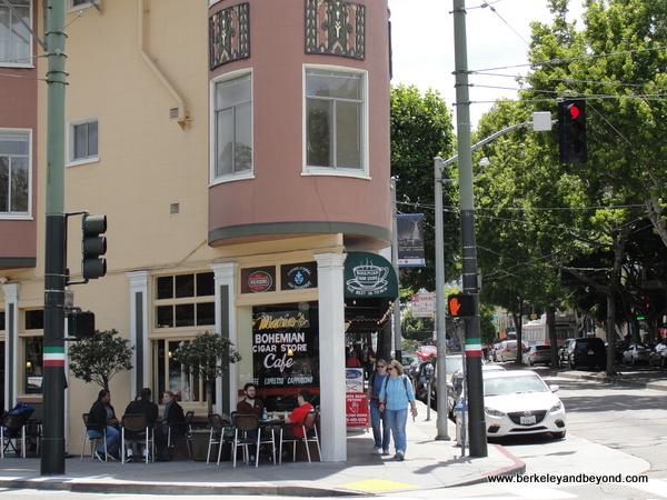 exterior of Mario's Bohemian Cigar Store Cafe in San Francisco