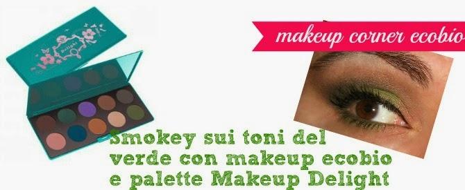 smokey eyes sui toni del verde ecobio con palette makeup delight