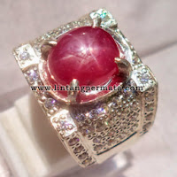 Batu Permata Natural Ruby Star