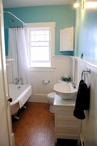 Bathrooms with wainscoting simple home decoration for Really small bathroom remodel ideas