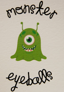Sinful Southern Sweets: Monster's Eyeballs And Free Printable Tags