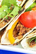 Hallelujah! Cauliflower Tacos w/ Coconut Cream Sauce (Vegan)
