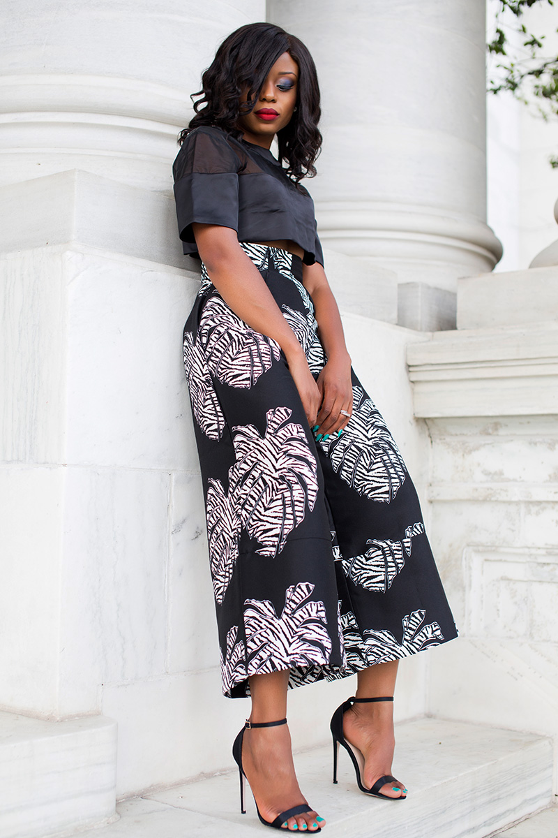 Solace Evelyn Culottes, crop top, jadore-fashion.com, asos sandals