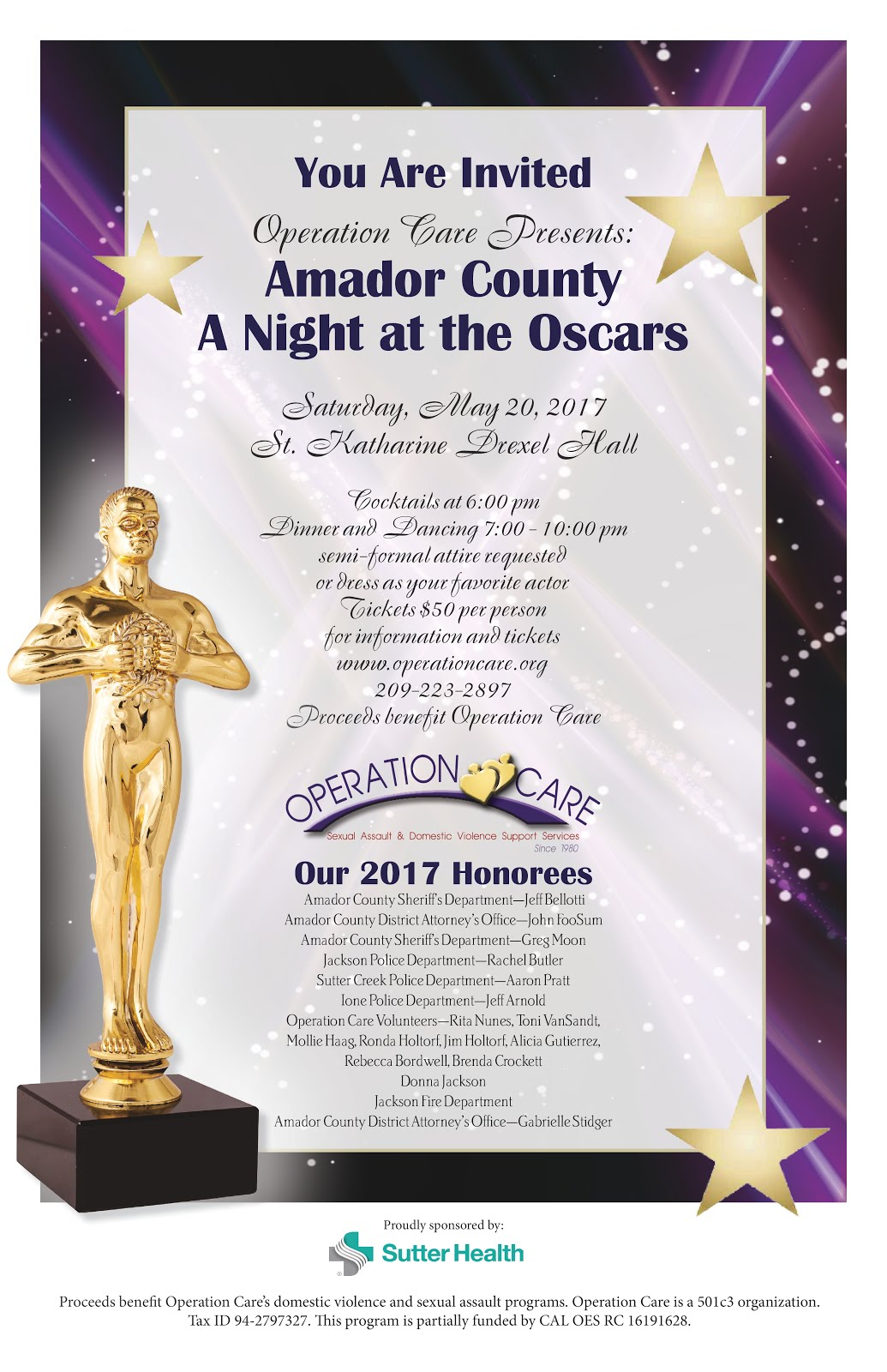 "Operation Care: ""A Night At The Oscars"" - Sat May 20"