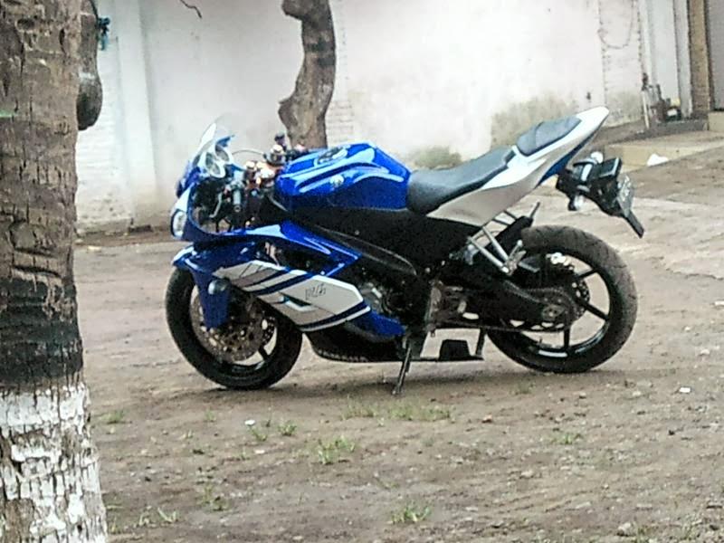 Modifikasi Vixion Aa YZF-R6 Biru title=