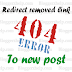 Recover 404 Error and Redirect the Page to New Page in Blogger