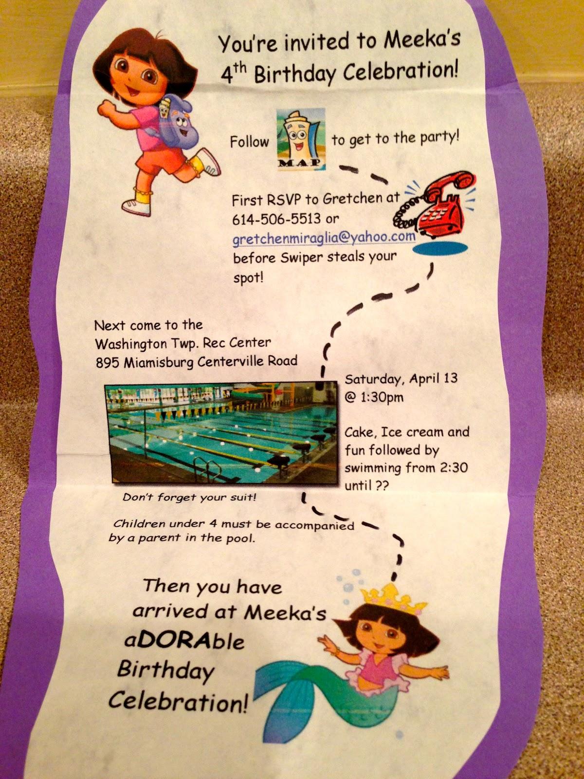 Real Life Motherhood of 4: Meeka is 4: Dora Birthday Party!