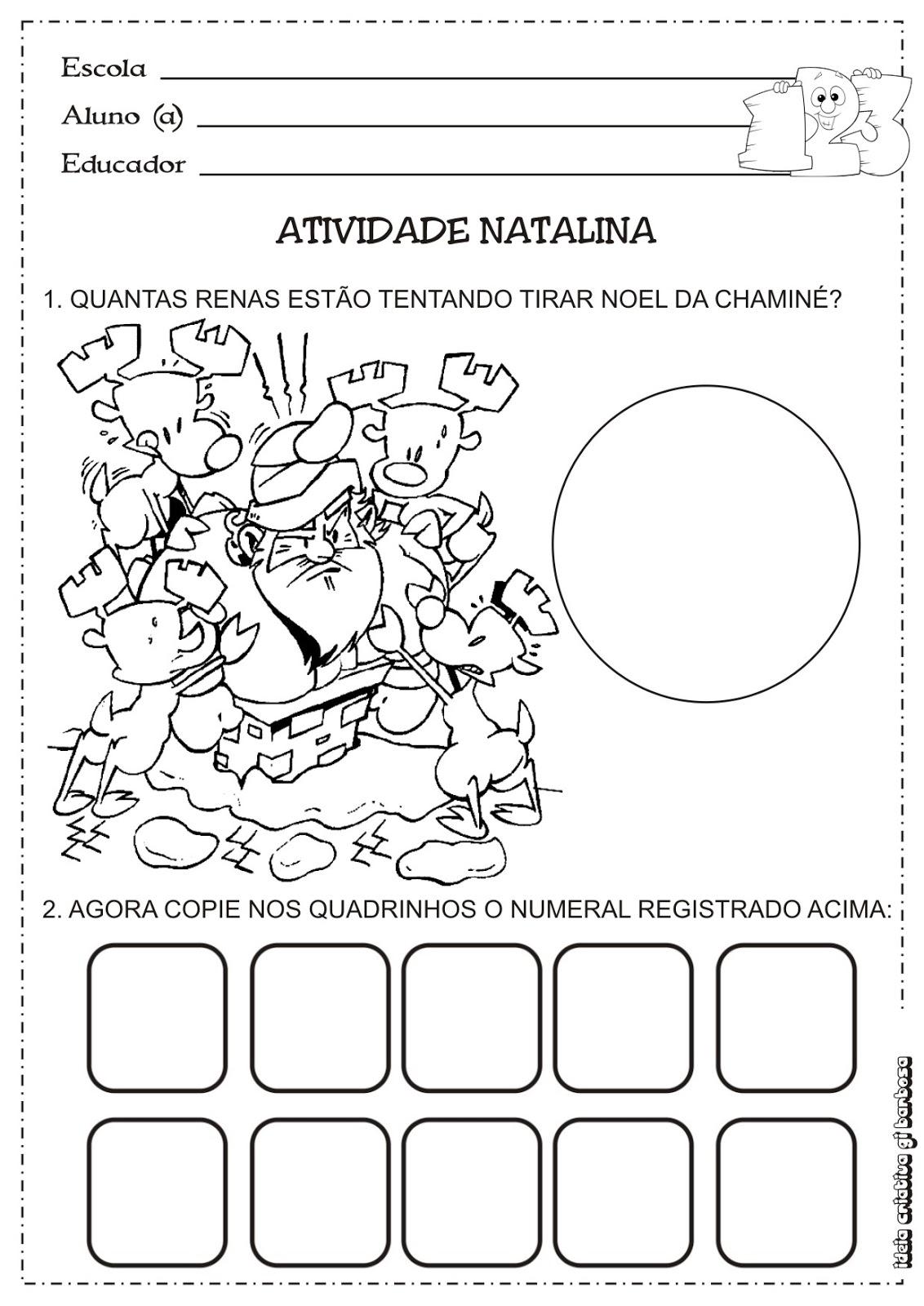 Favoritos Matemática Infantil: Atividade Matemática Educação Infantil  SM12