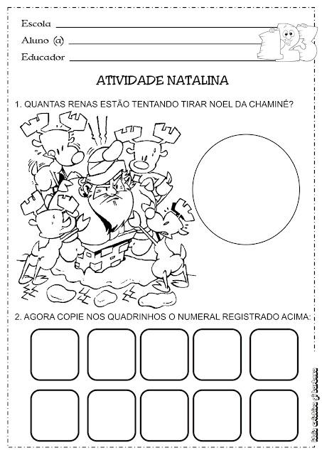 Atividade Matemática Educação Infantil Temática Natal