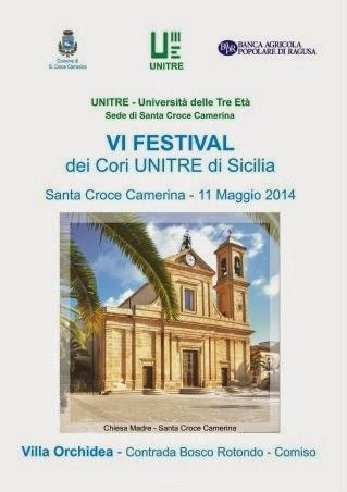 VI festival dei cori Unitre di Sicilia