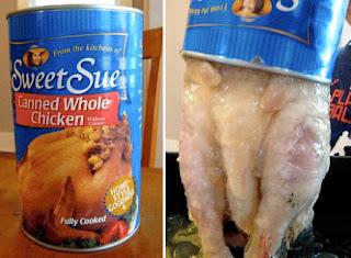 galinha inteira enlatada