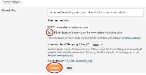 Cara Ganti Domain Blogspot Ke Domain Sendiri / Custom Domain untuk Blogspot Blogger Terbaru