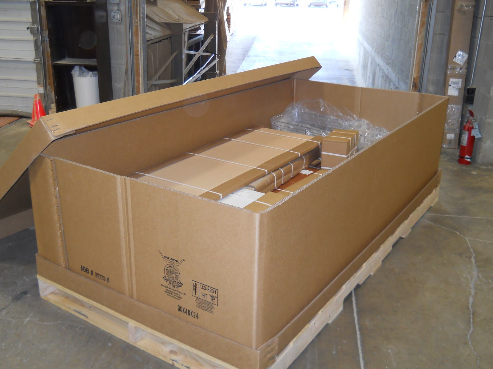 Ox Box Corrugated Crate Boxes Safely Ship Custom Closet